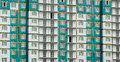 Facade of newly constructed panel residential building Royalty Free Stock Photo