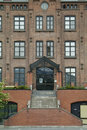 Facade of old brick building Royalty Free Stock Photography