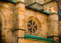 Facade of an old church in germany a very atmospherical and mystic shot the southern Stock Images