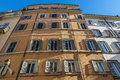 Facade of an old classic building in Rome, Italy Royalty Free Stock Photo