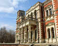 Facade of the old estate built in classical style Royalty Free Stock Photos