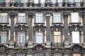 Facade of old house in budapest hungary Stock Photos