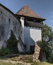 Facade of an old medieval church fortress in Viscri, Transylvania, Romania Royalty Free Stock Photo