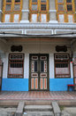 Facade of an old shophouse Stock Images
