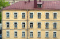 Facade of old urban building Royalty Free Stock Image