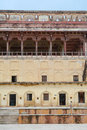 Facade of the Palace at the Amber Fort in Jaipur, India