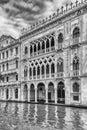 Facade of Palazzo Santa Sofia aka Ca D& x27;Oro, Venice, Italy Royalty Free Stock Photo
