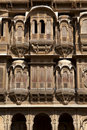 Facade of the  Patwa-ki Haveli in Jaisalmer - Indi Royalty Free Stock Images