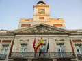 Facade in Puerta del sol Royalty Free Stock Photography
