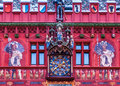 Facade of Rathaus, Basel, Switzerland Stock Photography