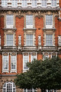 Facade of red brick building in London Royalty Free Stock Photo