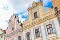 Facade of renaissance houses in telc czech republic a unesco world heritage site Stock Photography