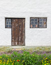 Facade of a rustic house with garden in front it gotland sweden Stock Photography