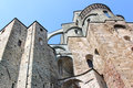 Facade of the Sacra di San Michele, Italy Royalty Free Stock Photos
