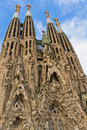 Facade Sagrada Familia Barcelona Spain Royalty Free Stock Photos