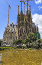 Facade sagrada familia barcelona spain july cathedral on july in how it may look without cranes it was created by famous antonio Royalty Free Stock Photography