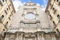 Facade of Santa Maria de Montserrat Abbey, Catalonia, Spain