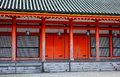 The facade of shinto shrine in tokyo japan Royalty Free Stock Photo