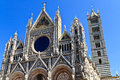 Facade of Siena dome Royalty Free Stock Photos