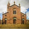 Facade of St. Josephs Cathedral aka Church of Our Lady of the Rosary, Asmara Royalty Free Stock Photo