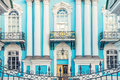 Facade of St. Nicholas Naval Cathedral in St. Petersburg Royalty Free Stock Photo