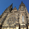 Facade of St. Vitus Cathedral Royalty Free Stock Photo