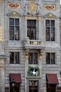 Facade of the swan guild house on grand place brussels commune brussels capital city region belgium pentagone Royalty Free Stock Photography