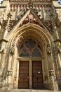 Facade of Thomaskirche in Leipzig Royalty Free Stock Photo