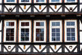 Facade of a timber framework in an old european town Royalty Free Stock Image