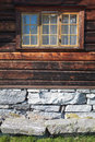 Facade of a traditional norwegian house europe scandinavia norway Royalty Free Stock Images