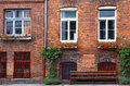 Facade of typical German residential house in Lubeck Royalty Free Stock Photo
