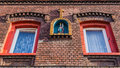 Facade of a typical silesian house with statue st florian in chorzow silesia region poland Royalty Free Stock Images
