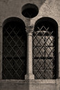Facade and window in the old church verona italy Royalty Free Stock Photography