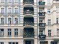 Facades of altbau buildings in Penzlauer Berg, Berlin Royalty Free Stock Photo