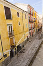 Facades of cuenca colorful in the city castilla la mancha Stock Photography