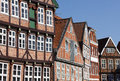 Facades at the old town of Stade Royalty Free Stock Photo