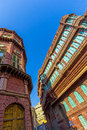 Facades of traditional haveli in bikaner rajasthan beautiful old india Stock Photo