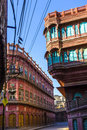 Facades of traditional haveli in bikaner rajasthan beautiful old india Stock Image