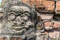 Face of ancient idol Stock Photos