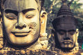 Face. Angkor Wat/ Angkor Thom. Cambodia Royalty Free Stock Photo