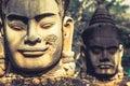 Face. Angkor Wat/ Angkor Thom. Cambodia Royalty Free Stock Photo