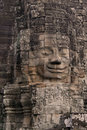 Face on Angkor Wat temple Royalty Free Stock Photo