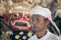 A face of Bali-Hindu monk Royalty Free Stock Photos