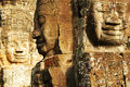 Face in Bayon temple Royalty Free Stock Photo