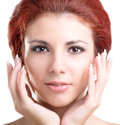 Face beautiful girl hygiene skin beauty Stock Photography