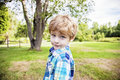 Face of boy outside Royalty Free Stock Photo