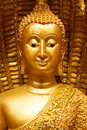 Face buddha status golden on gloden background Stock Image