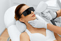 Face Care. Facial Laser Hair Removal. Epilation. Smooth Skin. Royalty Free Stock Photo