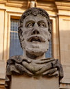 Face carved in stone Royalty Free Stock Photo