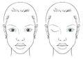 Face chart woman